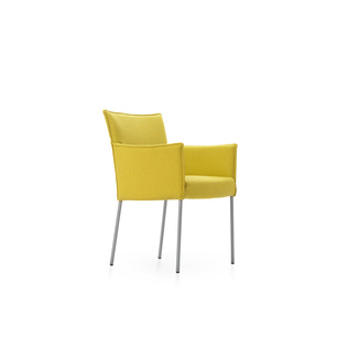 Amra by Gerard van den Berg | Shown in Hallingdal 420 Willow with polished aluminum legs.