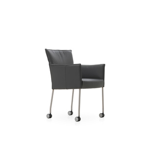 Amra with Wheels by Gerard van den Berg | Shown in Basque 39 Anthracite with polished aluminum legs.